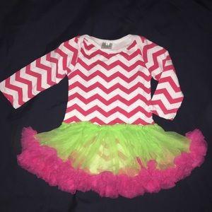 Other - New Girl's chevron Tutu dress size 2t